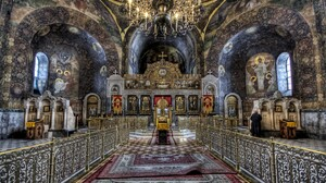 Altar Cathedral Chandelier Cross Hdr Religious 1920x1200 Wallpaper