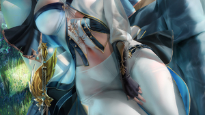Illustration Artwork Drawing Digital Art Fan Art Sakimichan Fantasy Art Fantasy Girl Anime Anime Gir 2155x3600 Wallpaper