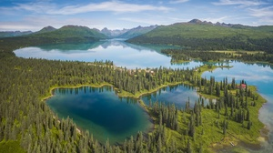 Alaska Forest Lake Mountain Panorama 1920x1200 Wallpaper
