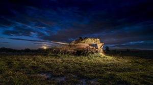 Outdoors Tank Vehicle Wreck 2048x1152 Wallpaper