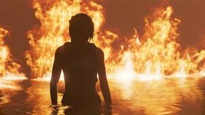Shadow Of The Tomb Raider Fire Lara Croft Destruction 1920x1080 Wallpaper