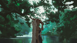 Fantasy Art Artwork Princess Mononoke Studio Ghibli 2000x2010 Wallpaper