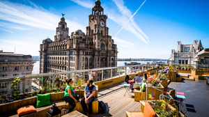 Liverpool England Rooftops The Royal Liver Building Architecture 4256x2840 Wallpaper