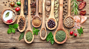 Food Wood Spoon Spices 1920x1200 wallpaper