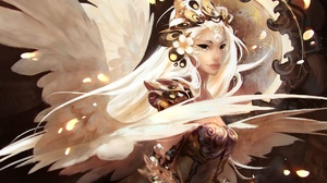 Angel Girl Long Hair White Hair Woman 1920x1304 wallpaper