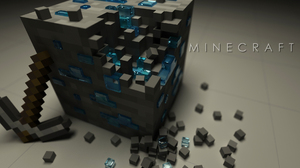 Minecraft Mojang Video Game Pickaxe Logo Ore Minecraft 1920x1200 Wallpaper