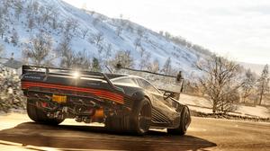 Forza Forza Horizon 4 Cyberpunk Cyberpunk 2077 Quadra Quadra Turbo R V Tech Driving Snow 3840x2160 Wallpaper