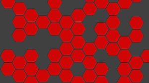Abstract Hexagon Pattern Red 1920x1200 Wallpaper