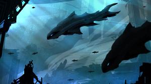Creature Fish Sunbeam Underwater 4608x3030 Wallpaper