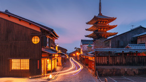 Architecture Building Photography Evening Asia Long Exposure Light Trails Street House Asian Archite 1920x1280 Wallpaper