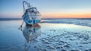 Boat Sea Shore 2048x1365 Wallpaper