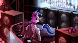Dj Dj Pon 3 Magic My Little Pony Vinyl Scratch 2166x1269 Wallpaper