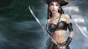 Fantasy Pirate 1920x1200 Wallpaper