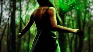 Squirrel Forest Nature Green Women Portal Dress 3663x5494 Wallpaper