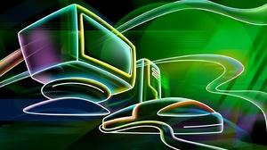 Artistic Computer Neon 1440x900 Wallpaper