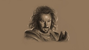 The Lord Of The Rings The One Ring Drawing Men Simple Background Long Hair Movies Digital Art Artwor 1920x1080 Wallpaper