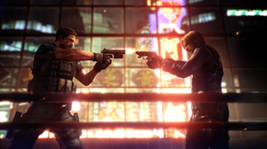 Video Games Video Game Characters Chris Redfield Pistol Gun Leon S Kennedy Resident Evil Standing Sc 2540x1280 Wallpaper