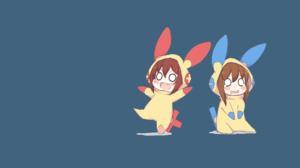 Ikazuchi Kancolle Inazuma Kancolle Plusle Pokemon Minun Pokemon 1920x1080 Wallpaper