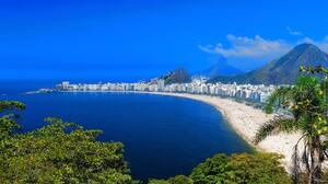 Beach Brazil City Cityscape Copacabana Horizon Ocean Rio De Janeiro Sea 1903x1206 wallpaper