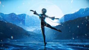Anna Drw01 Genshin Impact Eula Genshin Impact Anime Anime Girls Ice Leg Up Sky Mountains Landscape S 1840x1038 Wallpaper