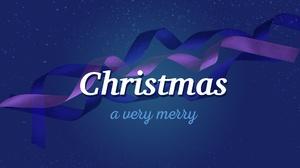 Merry Christmas Blue 4110x2639 Wallpaper