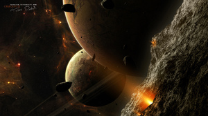 Taenaron 3D Space Planet 1920x1080 Wallpaper