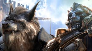 World Of Warcraft Genn Greymane Anduin Wrynn Warcraft Armour Alliance Worgen World Of Warcraft Battl 2844x1600 Wallpaper