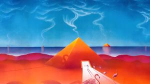 Flamingo Pyramid Sky 3840x2160 Wallpaper