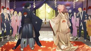 Hanabi Hyuga Hinata Hy Ga Ino Yamanaka Iruka Umino Kakashi Hatake Kizashi Haruno Mebuki Haruno Narut 1280x932 Wallpaper