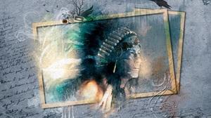 Frame Man Native American 3000x2000 Wallpaper