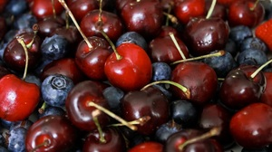 Blueberry Cherry Fruit 2305x1537 Wallpaper