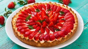 Pastry Fruit Berry Strawberry 6000x4000 Wallpaper
