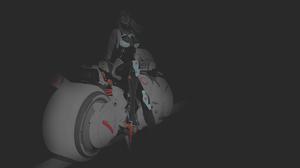 Fan Art Illustration Minimalism Monochrome Dark Background Selective Coloring Texture Motobike Cyber 1920x1080 Wallpaper