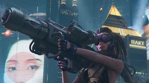 Cyberpunk Futuristic Girl Weapon 3056x1718 Wallpaper