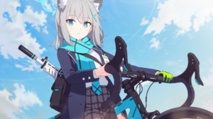 Blue Archive Anime Girls Weapon Bicycle 2048x1439 Wallpaper