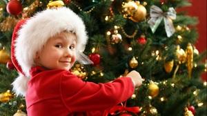 Little Boy Santa Hat Christmas Ornaments 2563x1710 Wallpaper