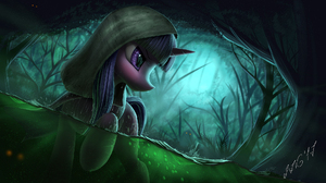 Hood Purple Eyes Swamp Twilight Sparkle 1944x1111 Wallpaper
