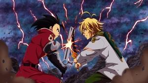 Black Hair Blonde Boy Dagger Meliodas The Seven Deadly Sins Sword The Seven Deadly Sins Zeldris The  3840x2160 Wallpaper