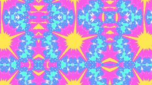 Abstract Colors Digital Art Kaleidoscope Pattern 1920x1080 Wallpaper