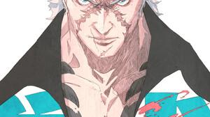 Chun Lo Artwork White Hair Gangster Tattoo Yakuza Simple Background 1000x1544 wallpaper