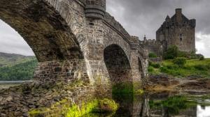 Nature Landscape Old Bridge HDR Eilean Donan Scotland 1920x1080 Wallpaper