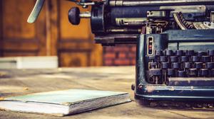 Notebook Typewriter Vintage 1920x1121 wallpaper