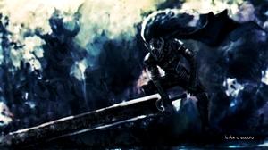 Leylek D Sovura Artwork Berserk Kentaro Miura Black Knight Black Swordsman 3840x2180 wallpaper