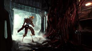 ArtStation Cyborg Wires Skull Gun Digital Art Digital Painting Futuristic Robot Fan Art Artwork Sams 3190x1992 Wallpaper