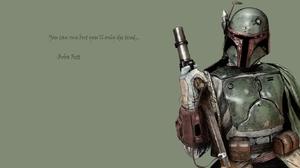 Boba Fett Quote Star Wars 1366x768 Wallpaper
