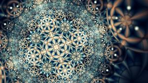 Artistic Digital Art Fractal Pattern 2560x1440 Wallpaper