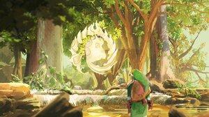 Fantasy Art Artwork Video Game Art The Legend Of Zelda The Legend Of Zelda Breath Of The Wild Link 3900x1900 Wallpaper