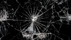Cracked Glass Holes Monochrome 1920x1080 Wallpaper