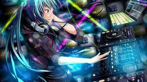 DJ Blue Hair Vocaloid Hatsune Miku Anime Girls Anime Blue Eyes 2880x1800 Wallpaper