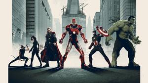 Iron Man Thor Captain America Hulk Black Widow Hawkeye 1920x1080 wallpaper